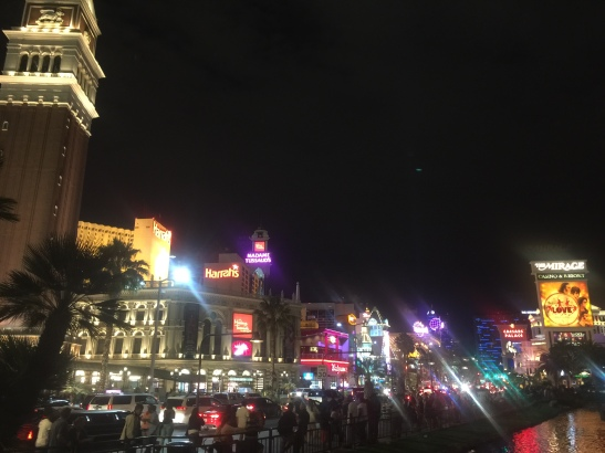 Saturday night on the Las Vegas strip in all its glory