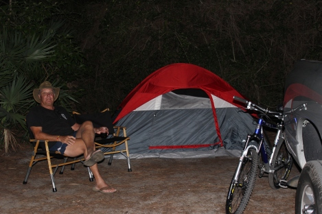 First night of camping at St Andrews Sate Park in Panama City Beach, FL