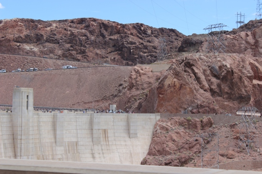 The Dam is 726 feet tall and weighs 6,6 million tons