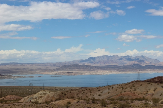 Lake Mead was formed by the Hoover Dam and is the largest reservoir in the US. It's 112 miles long hen full