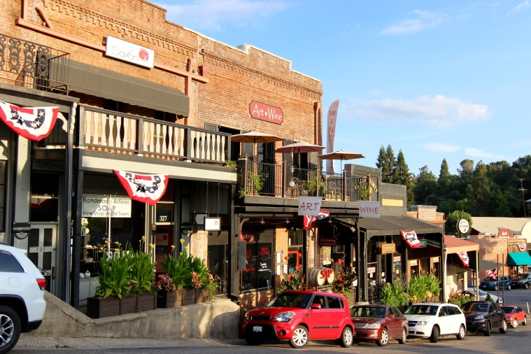 Old Town Auburn, CA. Located about 30 minutes from Grass Valley.