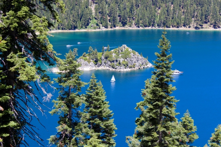 Lake Tahoe, CA. Beautiful Emerald Bay. The color of the water was amazing.