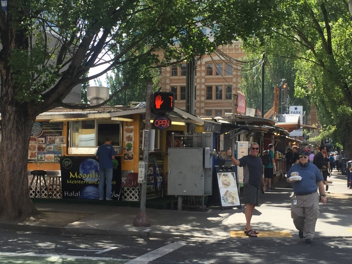 Downtown food carts.
