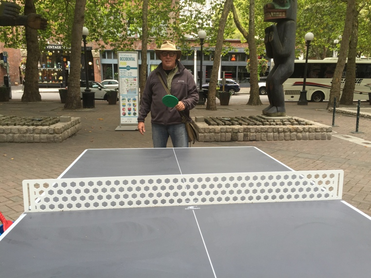 A little game of outdoor Ping Pong!!!