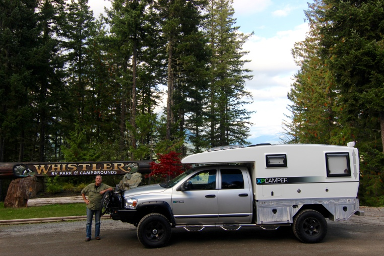 Whistler RV Park a few miles South of Whistler Village is great and has amazing views. A bit pricey for us, but worth it for all the services they offer. We normally favor free camping or Provincial/ State/National Parks much cheeper since we don't need any hookups.